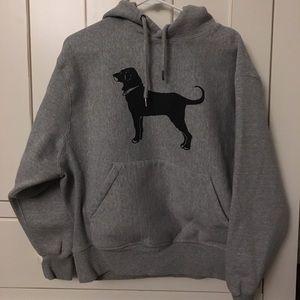 Grey Black Dog sweatshirt